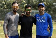 Krunal Pandya, Jasprit Bumrah and Hardik Pandya