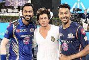 Krunal Pandya, Shahrukh Khan and Hardik Pandya