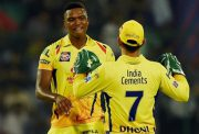 Lungi Ngidi and MS Dhoni