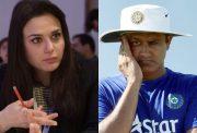 Preity Zinta and Anil Kumble