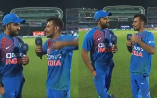 Rohit Sharma and Yuzvendra Chahal