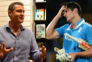 Simon Taufel and Alastair Cook