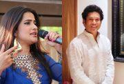 Sona Mohapatra and Sachin Tendulkar
