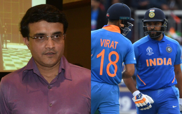 Sourav Ganguly, Virat Kohli and Rohit Sharma