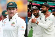 Tim Paine and Virat Kohli
