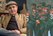 Virender Sehwag and Bangladesh team