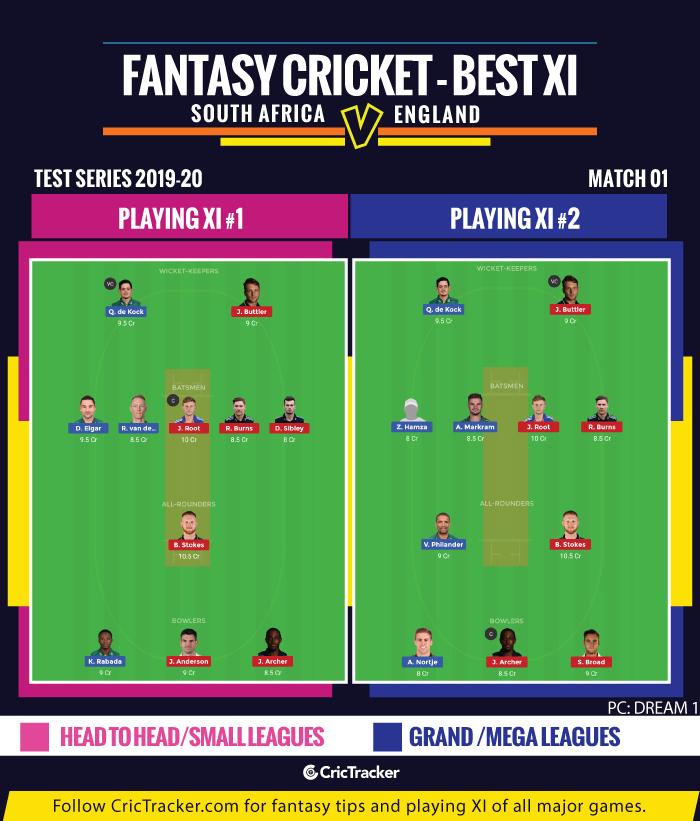 Fantasy South Africa vs England