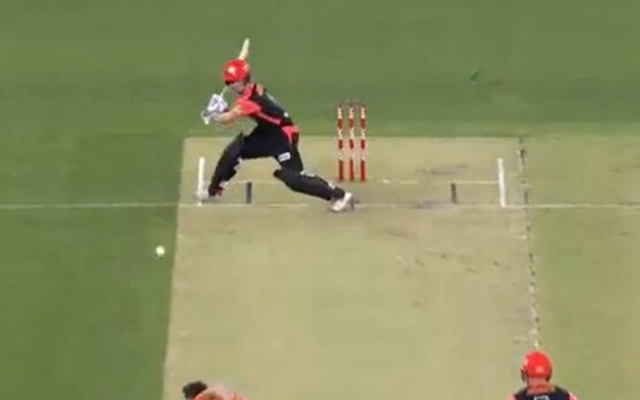 Ball lands outside the pitch