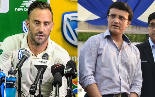 Faf du Plessis and Sourav Ganguly