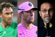 Glenn Maxwell, AB de Villiers and Virender Sehwag