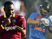 Kesrick Williams and virat Kohli
