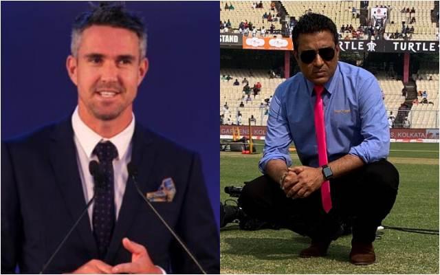 Kevin Pietersen and Sanjay Manjrekar