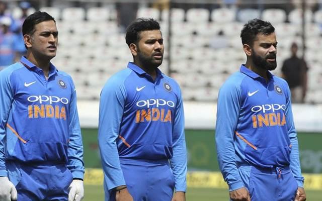 MS Dhoni, Rohit Sharma and Virat Kohli