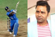 MS Dhoni and Aakash Chopra