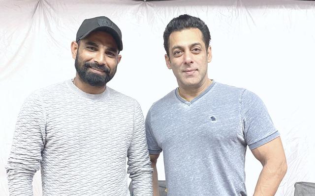 Mohammed Shami and Salman Khan