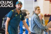 Nathan Lyon and girlfriend Emma McCarthy