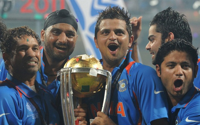 Team India after world cup 2011 win