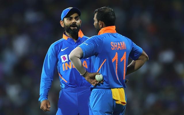 Virat Kohli and Mohammed Shami