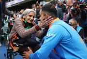 Virat Kohli with the old Indian fan