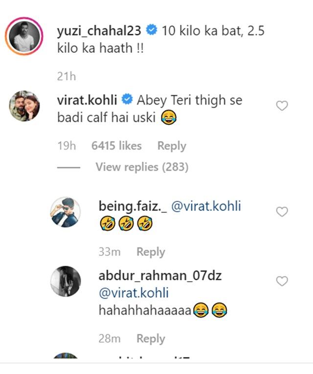 Virat Kohli's comment