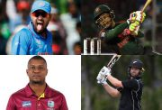 Yusuf Pathan, Mushfiqur Rahim, Evin Lewis and Colin Munro