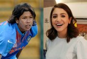 Jhulan Goswami and Anushka Sharma