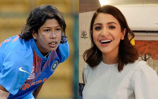 Jhulan Goswami and Anushka Sharma