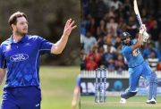 Mitchell McClenaghan and Rohit Sharma