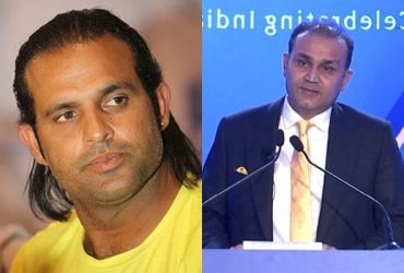 Naved-ul-Hasan and Virender Sehwag