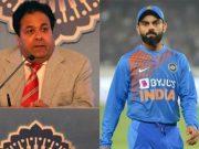 Rajeev Shukla and Virat Kohli