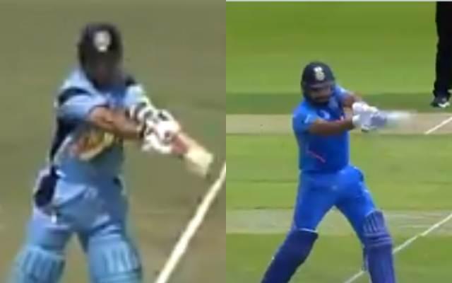Sachin Tensulkar and Rohit Sharma