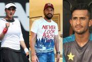 Sania Mirza, Yuvraj Singh and Hassan Ali