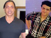 Sourav Ganguly and Shoaib Akhtar