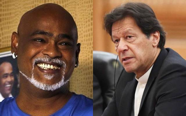Vinod Kambli and Imran Khan