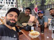 Virat Kohli, Ravindra Jadeja and KL Rahul