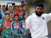 Bangladesh U19 team and Wasim Jaffer
