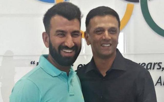 Cheteshwar Pujara and Rahul Dravid