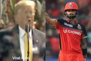 Donald Trump and Virat Kohli