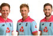 Eoin Morgan, Joe Root and Chris Woakes