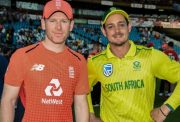 Eoin Morgan and Quinton de Kock