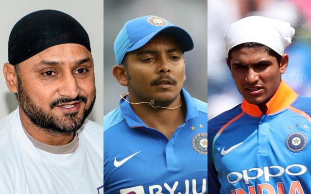 Harbhajan Singh, Prithvi Shaw and Shubman Gill
