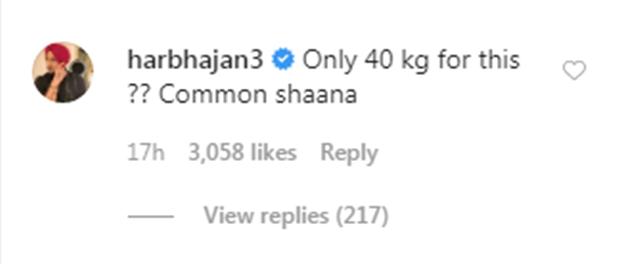 Harbhajan Singh's comment