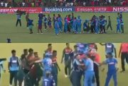 India vs Bangladesh U19 fight