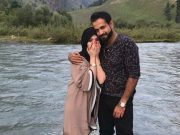 Irfan Pathan and his wife