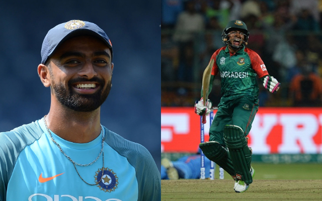 Jaydev Unadkat and Mushfiqur Rahim
