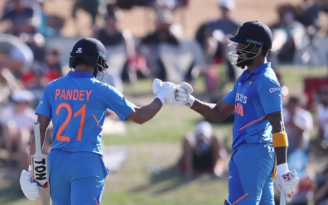 KL Rahul and Manish Pandey
