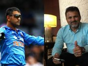 MS Dhoni and Moin Khan