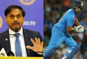 MSK Prasad and Rohit Sharma