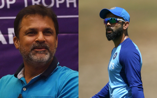 Moin Khan and Virat Kohli