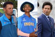 Rahul Dravid, Yashasvi Jaiswal and Sachin Tendulkar